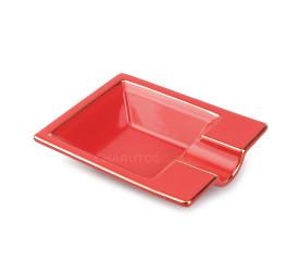 Cinzeiro de Ceramica para 1 Charuto - Vermelho