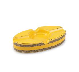 Cinzeiro de Ceramica para 2 Charutos - Amarelo