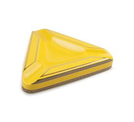 Cinzeiro de Ceramica para 3 Charutos - Amarelo