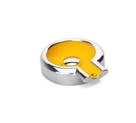 Cinzeiro de Ceramica com Metal Cohiba para 1 Charuto - Amarelo