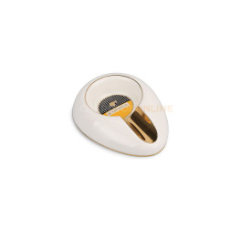 Cinzeiro de Ceramica Pequeno para 1 Charuto Cohiba - Branco