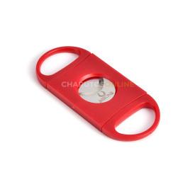 Cortador de Charutos Nerone Lâmina Dupla - Vermelho