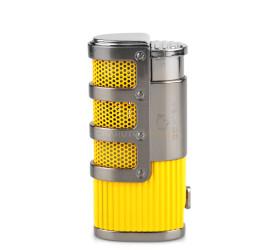 Isqueiro Maçarico Cohiba COB938 - Amarelo (3 Chamas)