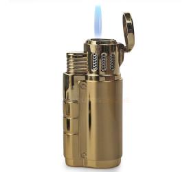 Isqueiro Maçarico com Furador Jobon 60251z (3 Chamas) - Dourado