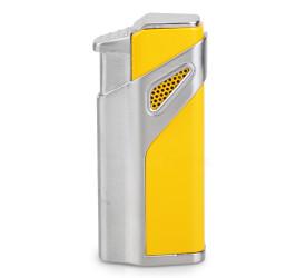 Isqueiro Maçarico Jobon ZB981 (3 Chamas com Furador) - Amarelo