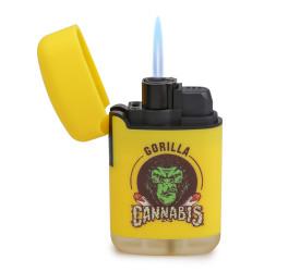 Isqueiro Maçarico Zengaz ZL-3 Cannabis - Amarelo (Sortido)