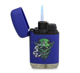 Isqueiro Maçarico Zengaz ZL-3 Cannabis - Azul (Sortido)