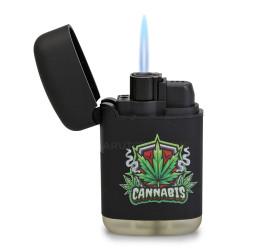 Isqueiro Maçarico Zengaz ZL-3 Cannabis - Preto (Sortido)