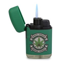 Isqueiro Maçarico Zengaz ZL-3 Cannabis - Verde (Sortido)