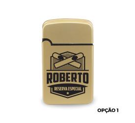 Isqueiro Maçarico Personalizado - Dourado