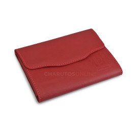 Porta Charutos em Couro (Pureira) Don Fernando - Vermelha