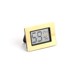 Termo Higrômetro Digital Besser - Dourado