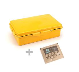 Umidor de Viagem Cigar Box Amarelo - Com Boveda